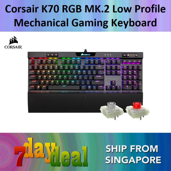 Corsair K70 RGB MK.2 / MK2 Low Profile Mechanical Gaming Keyboard — CHERRY MX Low Profile Speed (Rapidfire) / Red Singapore