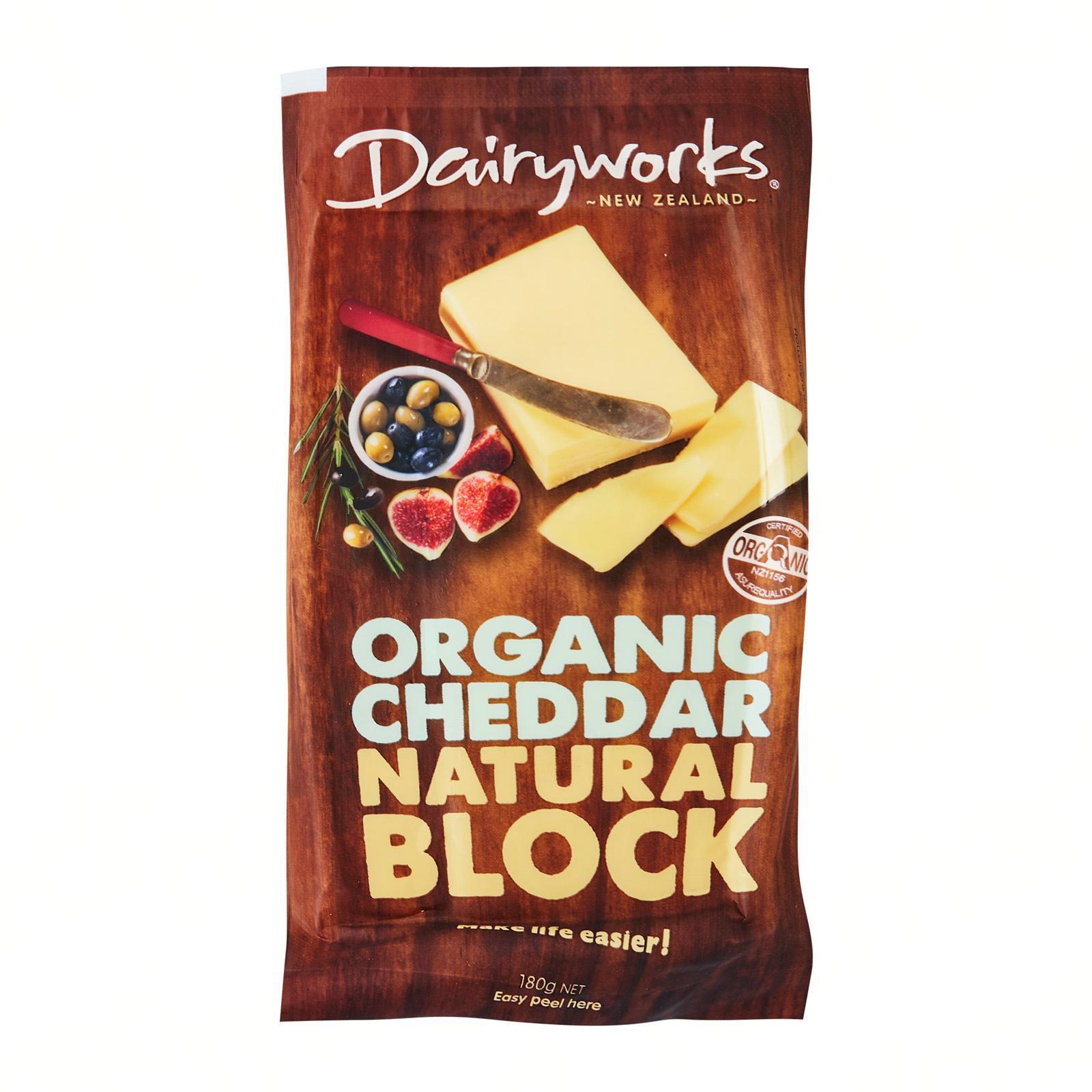 Dairyworks Organic Cheddar Natural Block Cheese