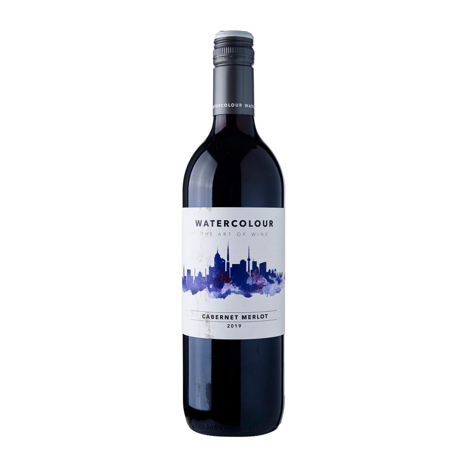 Watercolour Cabernet Merlot Red Wine Australia