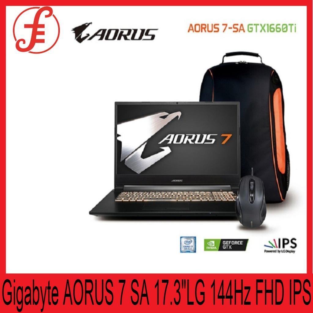 Gigabyte AORUS 7 SA 17.3 INCH LG 144Hz FHD IPS Panel/i7-9750H/GTX 1660Ti GDDR6 16G 8Gx2/ 512G PCIe SSD/ Win 10 Home/ 2Y/Bag+Mouse (AORUS 7 SA)
