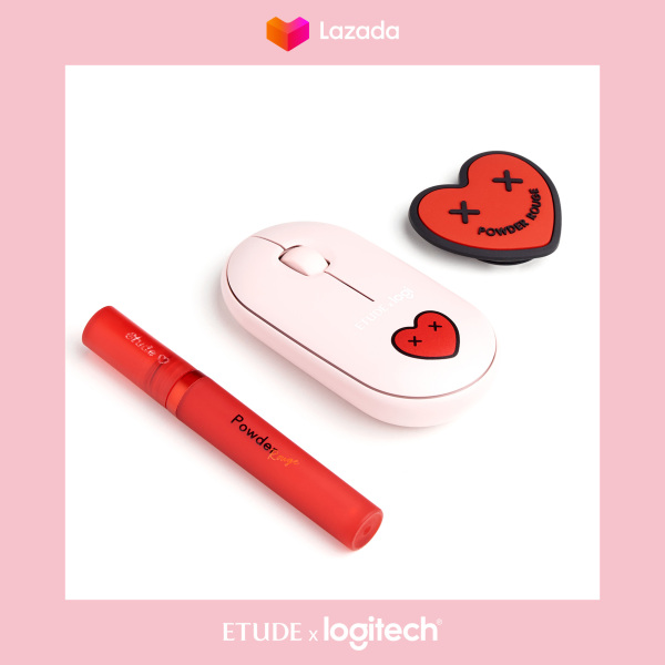 Buy [EXCLUSIVE] Etude x Logitech - Pink Wireless Mouse and Lip Tint Gift Set Singapore