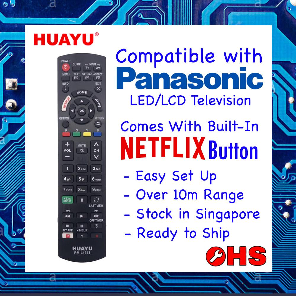 Panasonic Led Lcd Television Universal Remote Control Huayu Rm-L1378.