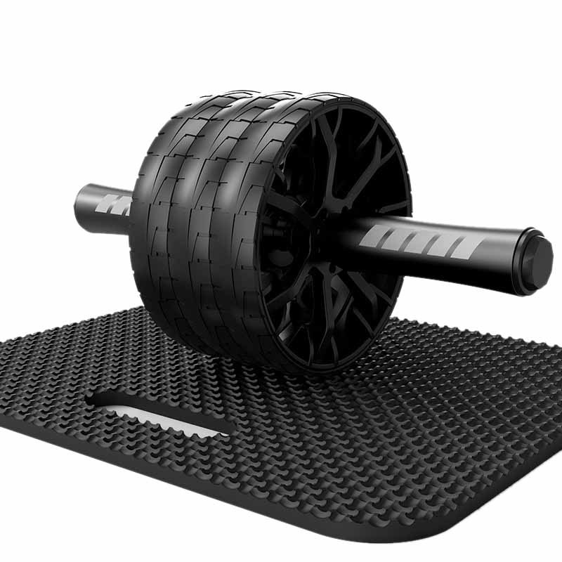 Fitness Belly Wheel Multifunctional Abdominal Device Three-Wheel Rolling Belly Wheel Silent Bearing Fitness Equipment Muscle Exerciser