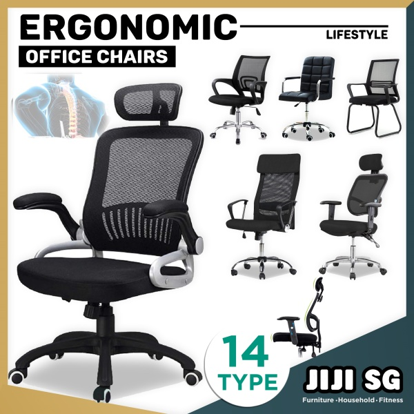 (Delivered in 3days) JIJI★2020 Office Chairs  ★Performance ★Ergonomic ★Nylon ★Aluminium ★Chrome - Office chair/Study chair/Gaming chair/Ergonomic/ Free 6 Months Warranty (SG) Singapore
