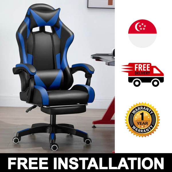 Professional Gaming Chair Adjustable Ergonomic PU Leather Office Secretlab Racing-car Secret Lab Inspired DXRACER DX RACER Singapore [FREE INSTALLATION/DELIVERY WITHIN 3 WEEKS]