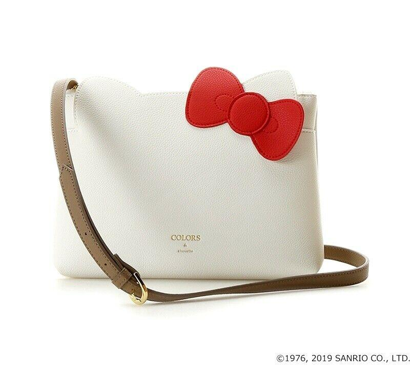 Colors X Chouette ( Formerly Jennifer sky ) x Hello Kitty flat faux pebbled leather crossbody bag