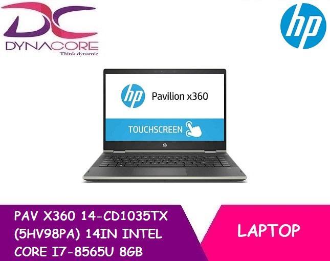 HP PAV X360 CONVERTIBLE 14-CD1035TX (5HV98PA) 14IN INTEL CORE I7-8565U 8GB 1TB HDD+128GB SSD WIN 10 TOUCH