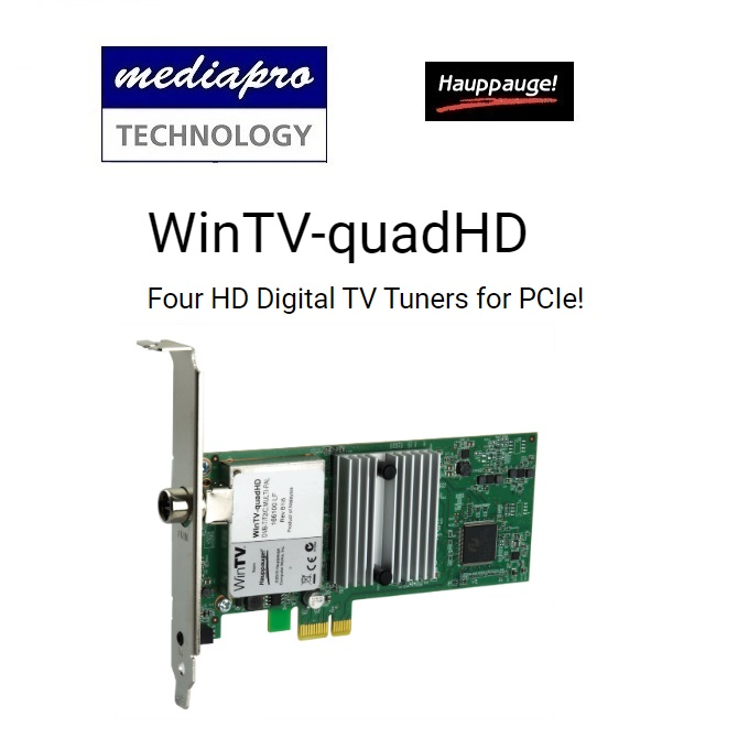 Hauppauge WinTV-quadHD (1629) Four HD Digital TV Tuners for PCIe - 1 year local distributor warranty