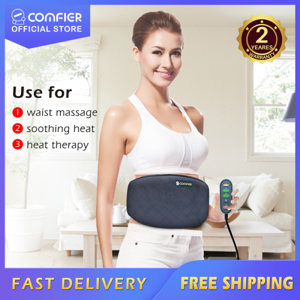 Buy CF6006N Local Seller Comfier Heating Pad for Back Pain - Heat Belly Wrap Belt with Vibration Massage, Fast Heating Pads with Auto Shut Off, for Lumbar, Abdominal, Leg Cramps Arthritic Pain Relief, 2 years warranty Singapore