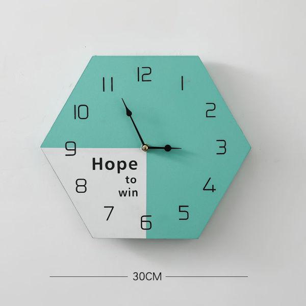 Tính cách Bắc Âu và sáng tạo, tường treo đồng hồ nhỏ nhất, phòng khách, chuông nhà, đồng hồ đơn giản và tường theo dõi treo mà không có lỗ 2NMP bán chạy
