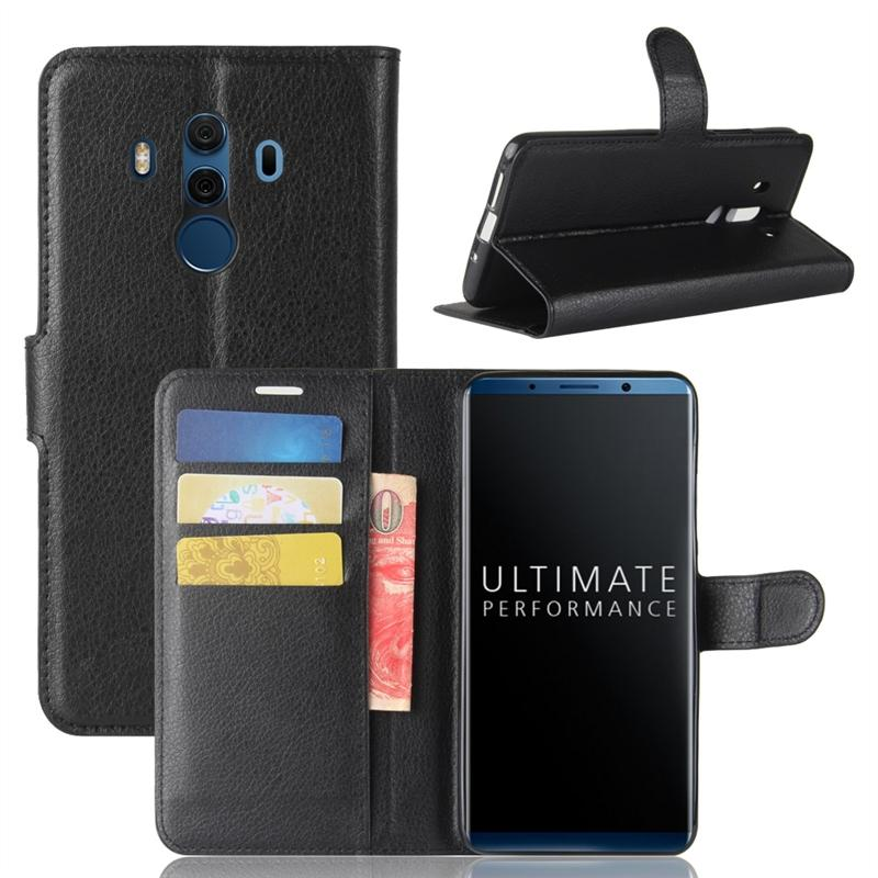 For Huawei Mate 10 Pro Litchi Grain PU Leather Wallet Case with Flip Stand Function and