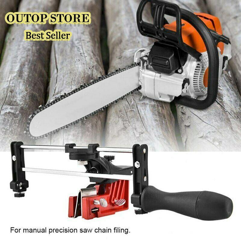 OUTOP Professional Lawn Mower Chainsaw Chain File Guide Sharpener Grinding Guide For Garden Chain Saw Sharpener Garden Tools