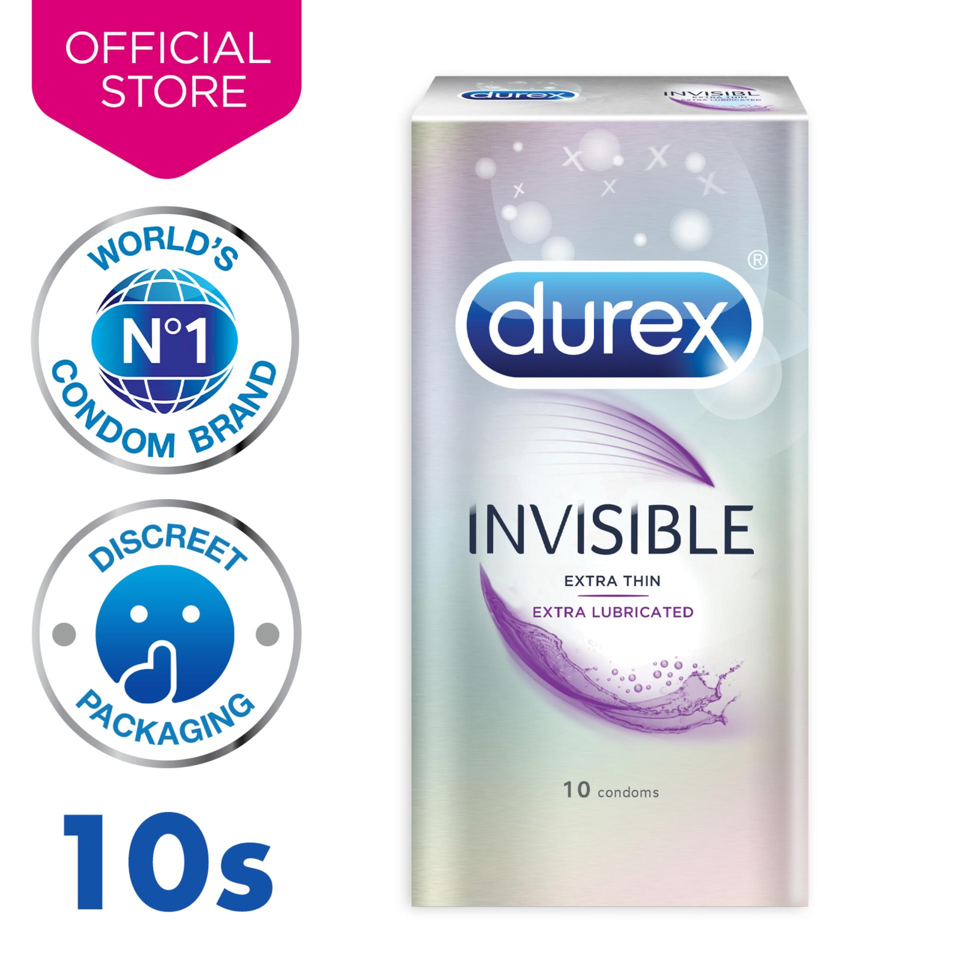 Durex Invisible Extra Lubricated Condoms (our Thinnest) X10 By Durex.