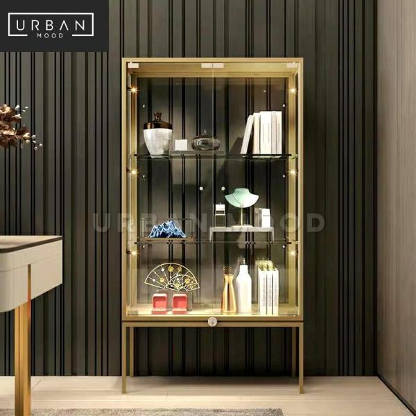 [Pre-Order] IRIDIUM Modern Glass Display Cabinet
