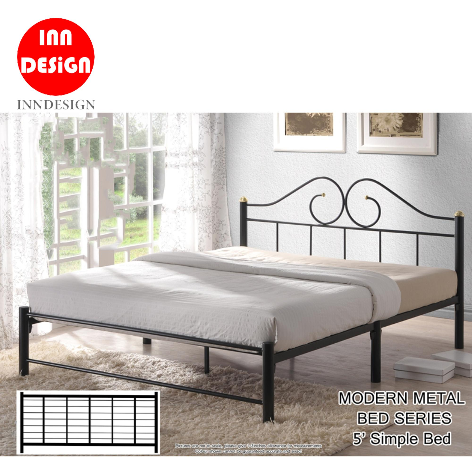 [6 Months Warranty) Queen Metal Bedframe (Free Delivery and Installation)