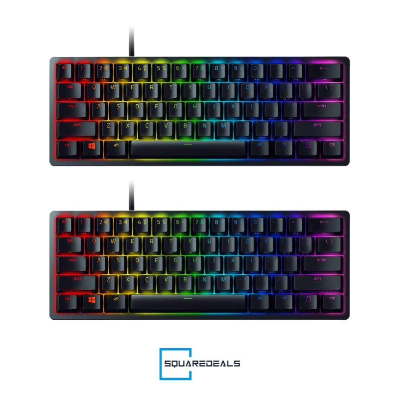 Razer Huntsman Mini Optical Gaming Keyboard Clicky Purple Liner Red US Black Singapore