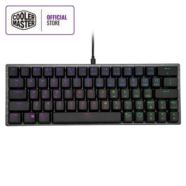 Cooler Master SK620 60% Mechanical Keyboard, Low Profile RGB Switches, Ergonomic Keycaps, Brushed Aluminum Design Singapore