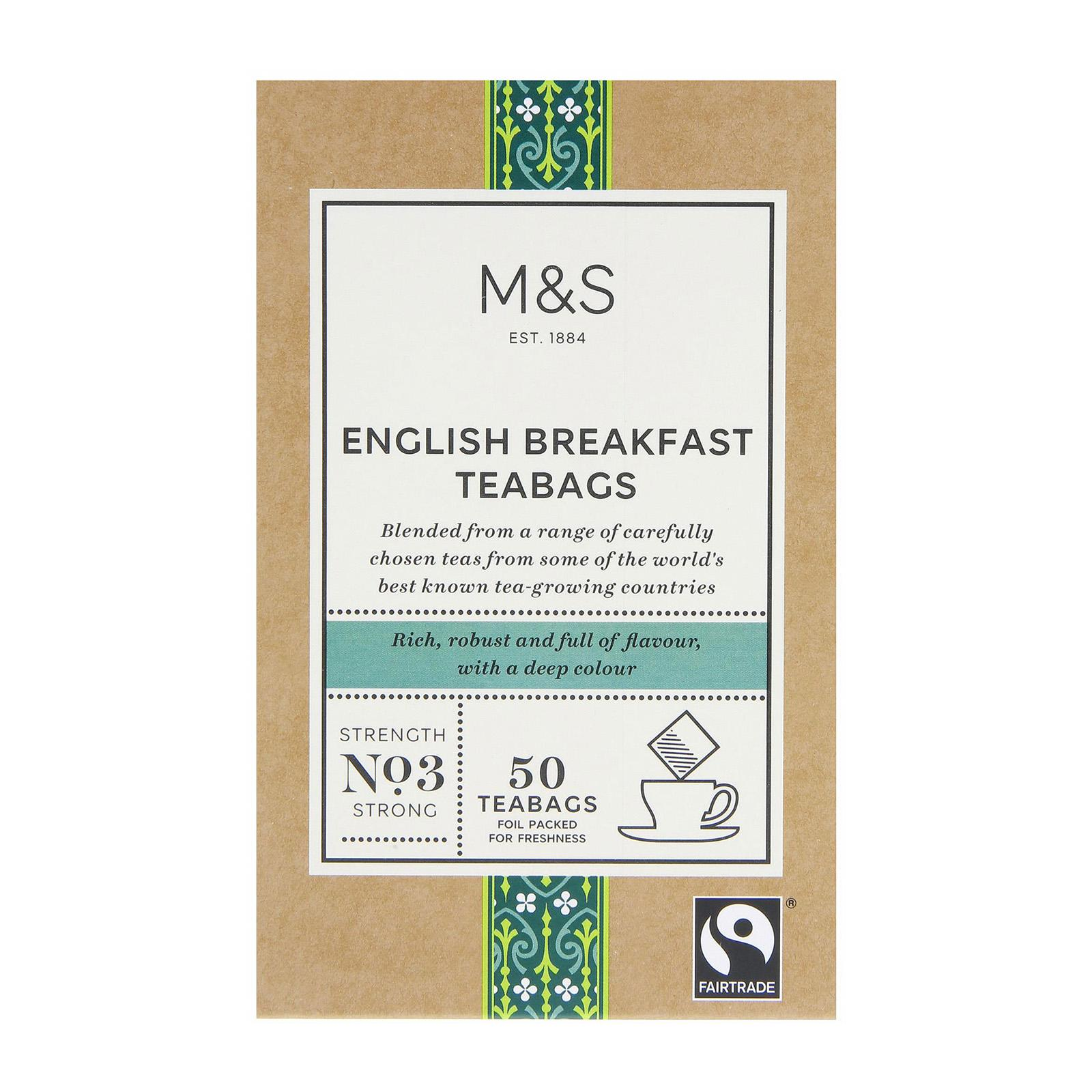 Marks & Spencer Fairtrade English Breakfast Teabags