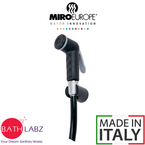 MIROEUROPE BLACK/WHITE BIDET SPRAY WITH CHROME/GREY RING AND HANDLE [SOC01/SOC01C/SOC02/SOC02C] - MULTI MODELS