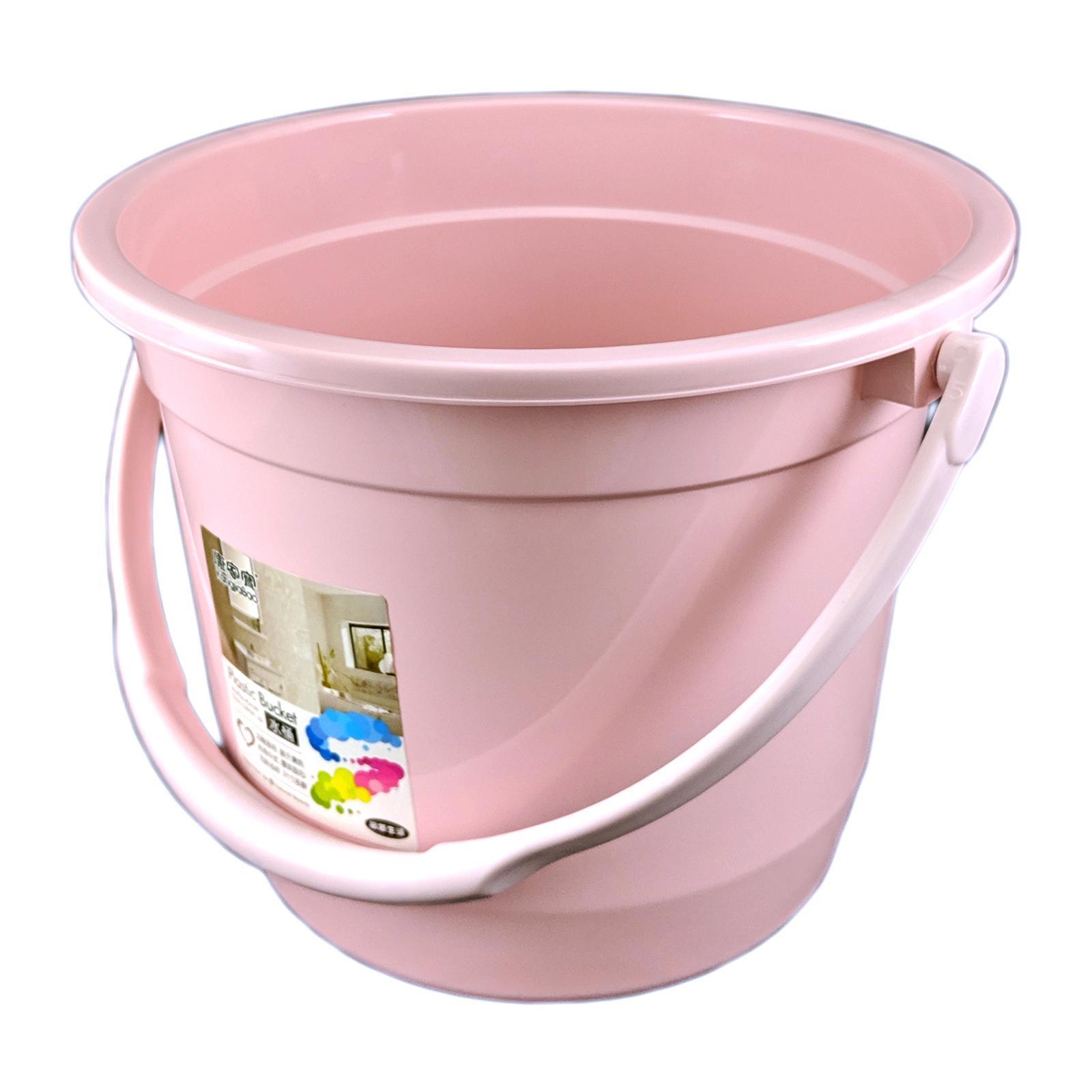 KangjiaBao Small PE Plastic Pail 6.5L (Pink)