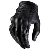Sale 1 Pair Black Leather Gloves Riding Bike Motorcycle Protective Armor Mesh Solid Racing Gloves Specification Nonporous Size M Intl