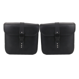 Great Deal 1 Pair Black Pu Leather Motorcycle Side Saddlebags Saddle Bag Panniers