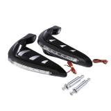 Top Rated 1 Pair Universal Handlebar Hand Protector Motorcycle Hand Guards Black Intl