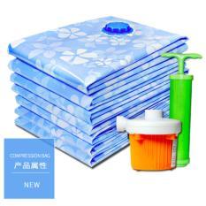 Cheapest 10 Pieces Travel Organizer Vacuum Compression Bags Set Free Pump Blue Intl Online
