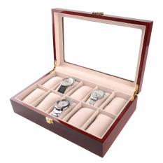 10 Slot Rose Wood Watch Box With Soft Cushions Oem Cheap On Singapore