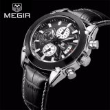 Sale 100 Brand New Megir 2020G Analog 3 Sub Dials Waterproof Luminous Chronograph Quartz Wrist Watches With Leather Strap Black Intl China Cheap