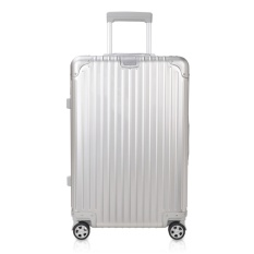 Get Cheap 100 Full Aluminum Magnesium Alloy 360° Dual 4 Wheel Spinner Trolley Luggage Matte Rivet Reinforced Roller Suitcases 20 24 29 Intl