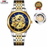 Price 100 Genuine 2017 New Men Watches Fashion Dragon Tevise Brand Watch Automatic Mechanical Watches Steel Clock Mens Wristwatches Relogio Masculino 9006 Tevise New