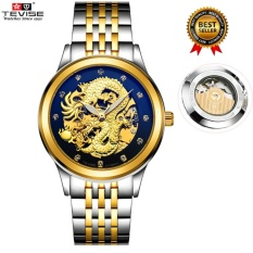 Buy 100 Genuine 2017 New Men Watches Fashion Dragon Tevise Brand Watch Automatic Mechanical Watches Steel Clock Mens Wristwatches Relogio Masculino 9006 Intl Tevise