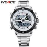 Sale 100 Genuine Weide Brand Men Sports Watches Men S Quartz Watch Analog Digital Military Army Diver Full Steel Wristwatches Weide On China