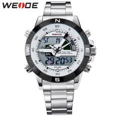 100 Genuine Weide Brand Men Sports Watches Men S Quartz Watch Analog Digital Military Army Diver Full Steel Wristwatches Cheap