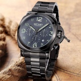 Buy 100 Original Megir Stainless Steel Case And Strap Men Male Fashion Business Sport Casual Army Military Wrist Quartz Watch Chronograph Timer Date Calendar 3406 Intl Cheap On China