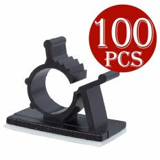 Best Buy 100X Car Wire Cable Tie Cord Holder Clamps Sticker Clip Self Adhesive Adjustable Intl