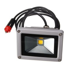 Cheapest 10W 12V Led Flood Spot Light Work Lamp Car Charger Waterproof For Camping Travel Warm White Intl Online