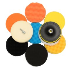 Compare Prices For 11Pcs 6Inch Polishing Buffing Waxing Sponge Pad Kit Compound For Car Polisher M14 Intl