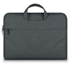 Compare Prices For 12 9 13 3 Laptop Sleeve Nylon Cotton Liner Handle Sleeve Bag Case Cover Skin With Extra Pocket For 13 3 Macbook Air Pro Retina And Other 12 9 13 3 Laptops Portable Computers Dark Gray Intl