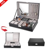 Purchase 12 Grids Watch Display Case Pu Leather Jewelry Storage Box Organizer Intl Online