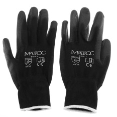 Sale 12 Pairs Work Gloves Safety Latex Pu Nitrile Black White Orange Grey Red L Intl Not Specified Cheap
