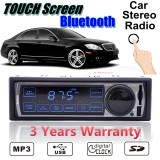 Retail 12V 1 Din In Dash Touch Bluetooth Stereo Radio Mp3 Usb Sd Aux Player Car 50Wx4 Intl
