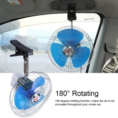 For Sale 12V 25W Mini Portable Auto Vehicle Clip On Cooling Oscillating Fan For Car Truck Dashboard Intl