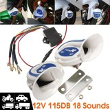 12V Electric Digital Siren Snail Loud 115Db Air Horns 18 Kind Sound Car Van Boat Intl Sale