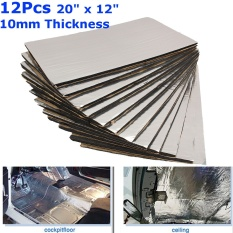 12x Car/van Glass Fibre Sound Proofing Deadening Insulation 1cm Closed Cell Foam - Intl By Qiaosha.