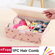 13 Cell Socks Underwear Ties Drawer Closet Home Organizer Storage Box Case Pink Cherry Intl Shop