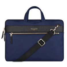Buy 13 3 Inch Cartinoe Fashion London Style Exquisite Zipper Portable Handheld Nylon Pu Laptop Bag With Removable Shoulder Strap For Macbook Lenovo And Other Laptops Internal Size 36 0X25 0X2 5Cm Blue Intl Online