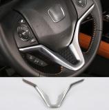 Best Deal 14 17 Honda Fit Vezel Hr V Chrome Steering Wheel Trim Cover Badge Garnish Center Console Styling Bezel Molding Intl