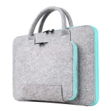 Who Sells The Cheapest 16 54 X 11 81Inches Storage Bag Wool Felt Handbag Shock Absorption Carrying Case For 15 4Inch Macbook Pro And Retina Universal Laptop Size Within 15 6Inch Light Gray And Sky Blue Intl Online